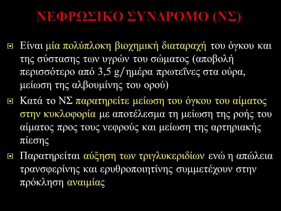 ΝΕΦΡΩΣΙΚΟ ΣΥΝΔΡΟΜΟ (ΝΣ)