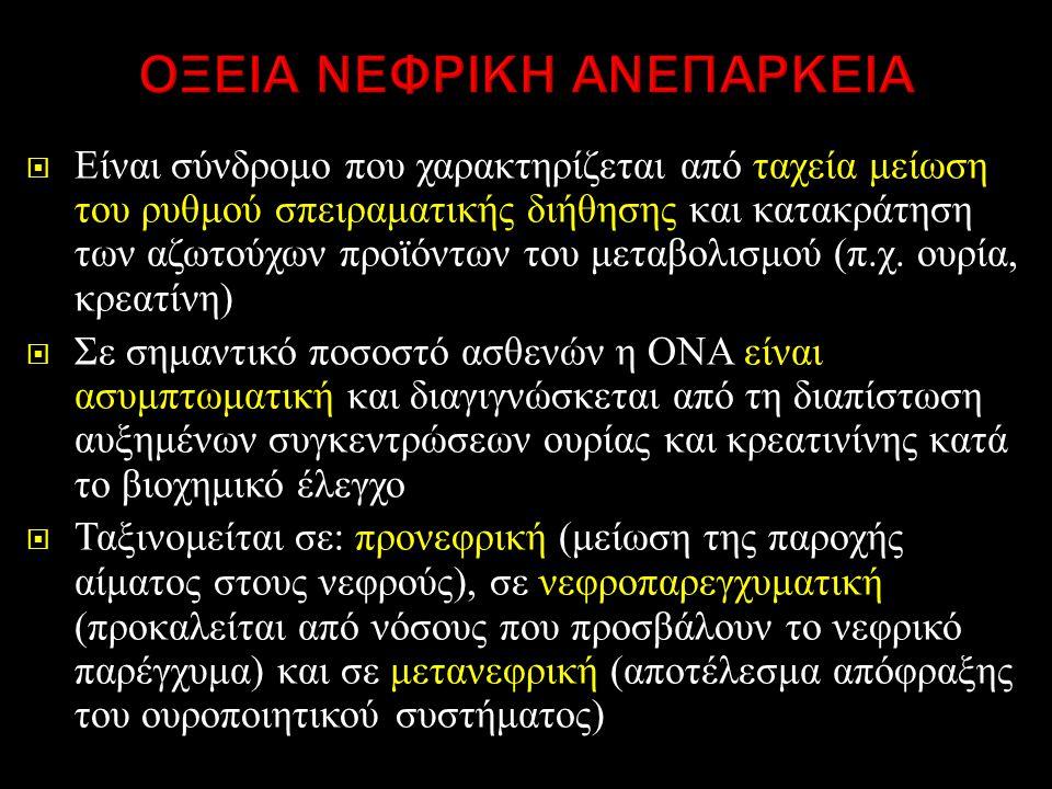 ΟΞΕΙΑ ΝΕΦΡΙΚΗ ΑΝΕΠΑΡΚΕΙΑ