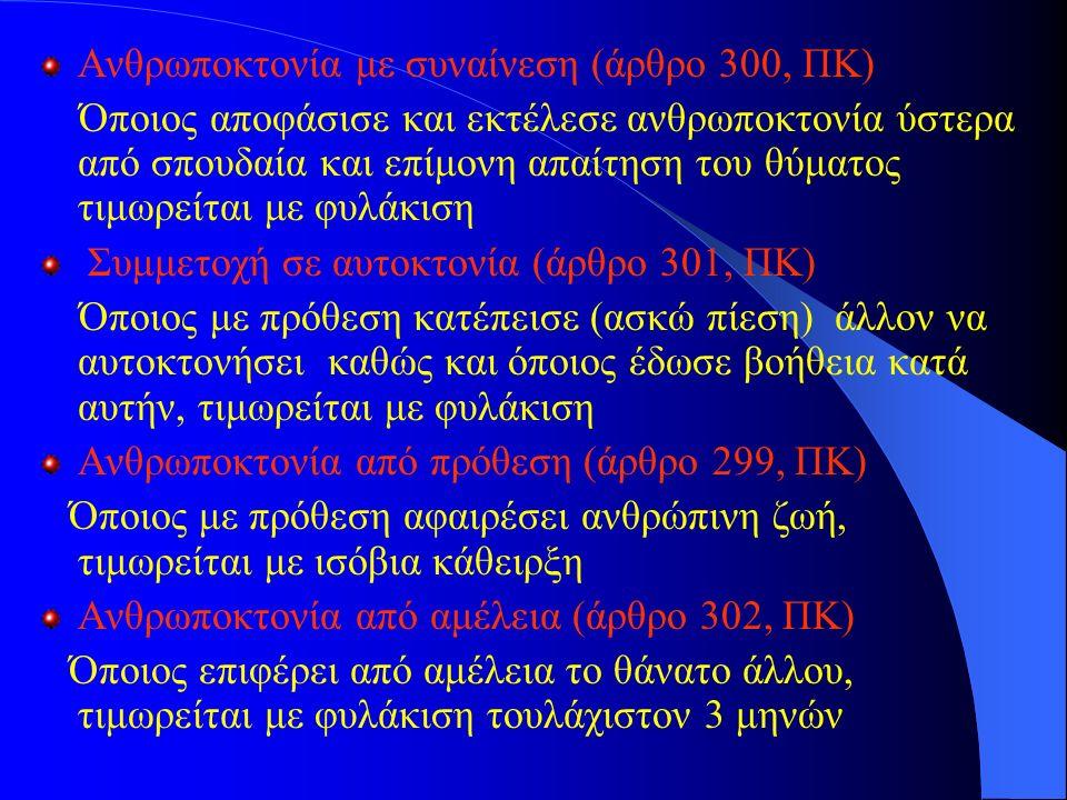 Ανθρωποκτονία με συναίνεση (άρθρο 300, ΠΚ)