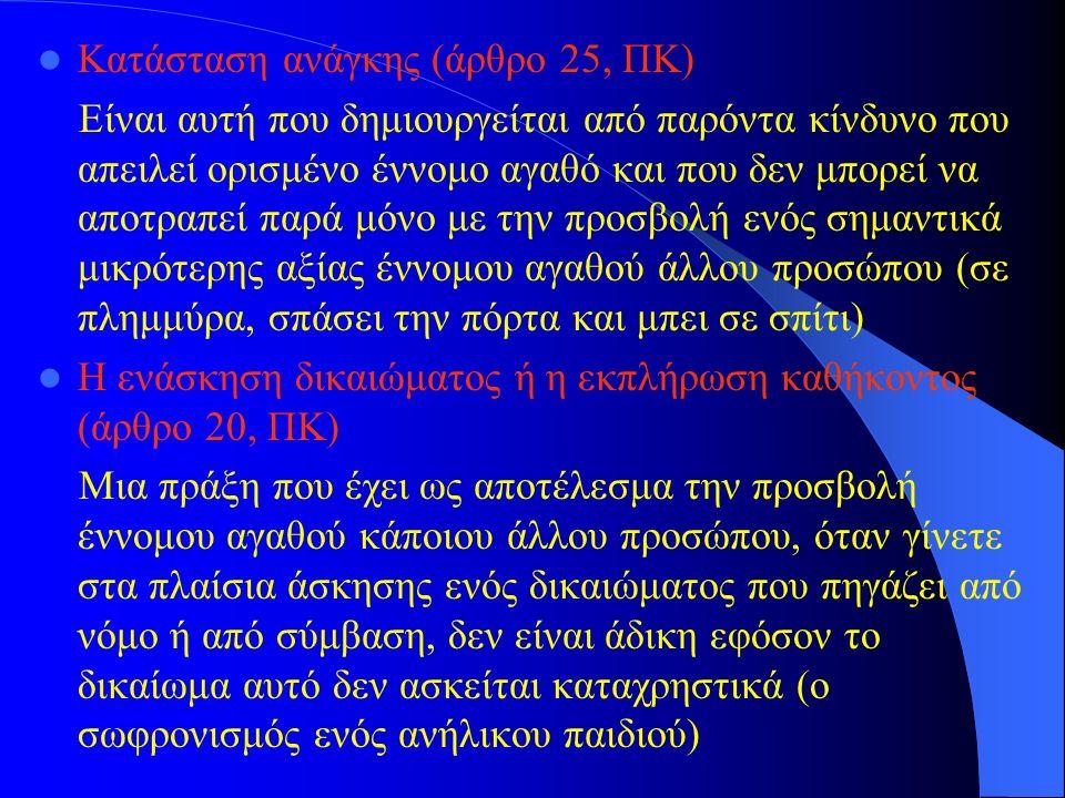 Κατάσταση ανάγκης (άρθρο 25, ΠΚ)