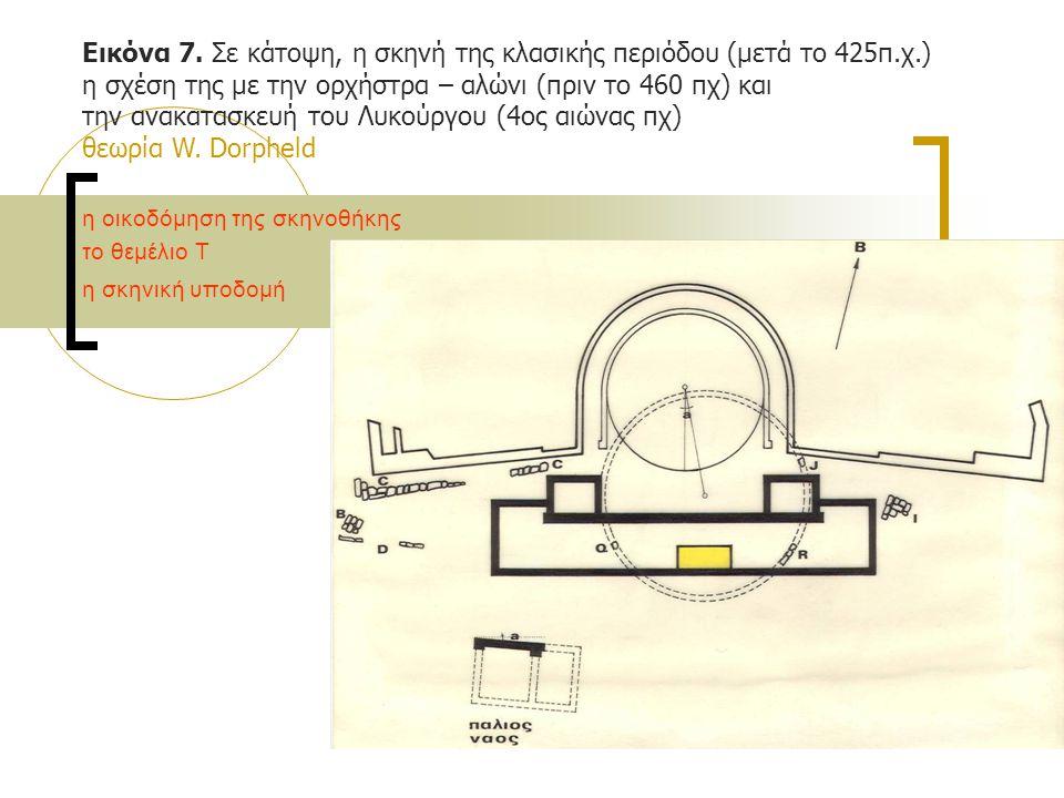 Εικόνα 7. Σε κάτοψη, η σκηνή της κλασικής περιόδου (μετά το 425π.χ.)