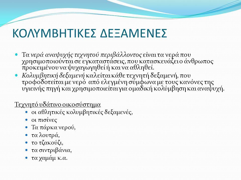 ΚΟΛΥΜΒΗΤΙΚΕΣ ΔΕΞΑΜΕΝΕΣ