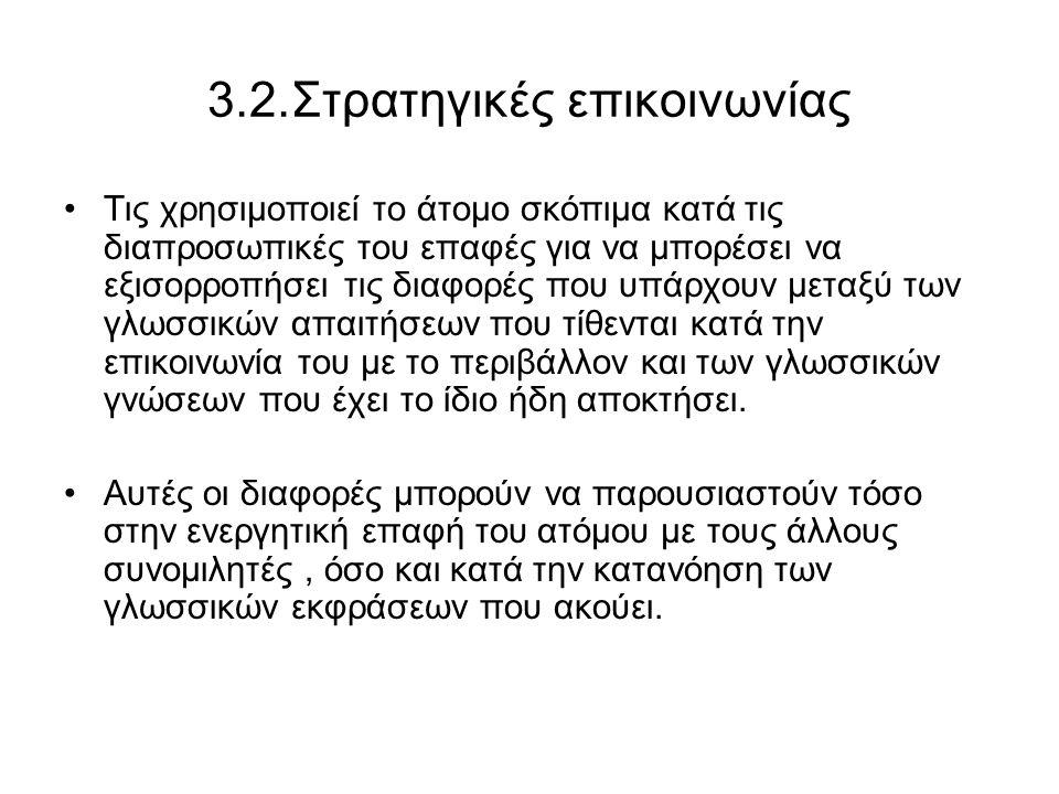 3.2.Στρατηγικές επικοινωνίας