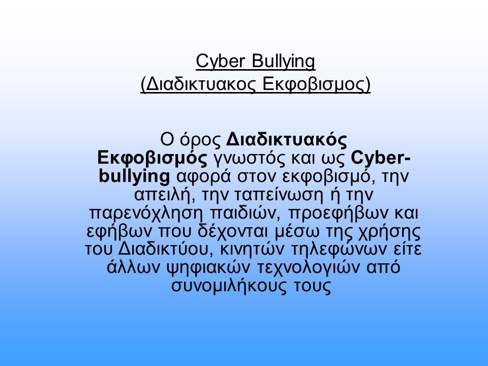 Cyber Bullying (Διαδικτυακος Εκφοβισμος)