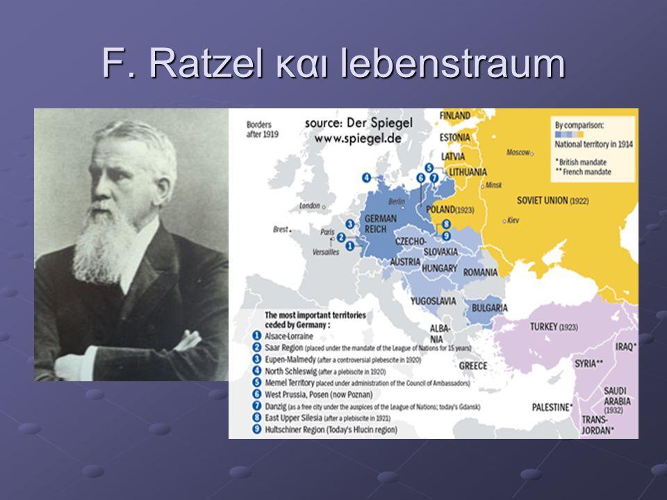 F. Ratzel και lebenstraum