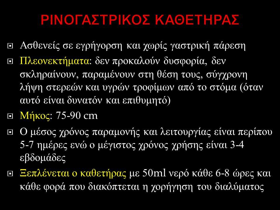 ΡΙΝΟΓΑΣΤΡΙΚΟΣ ΚΑΘΕΤΗΡΑΣ