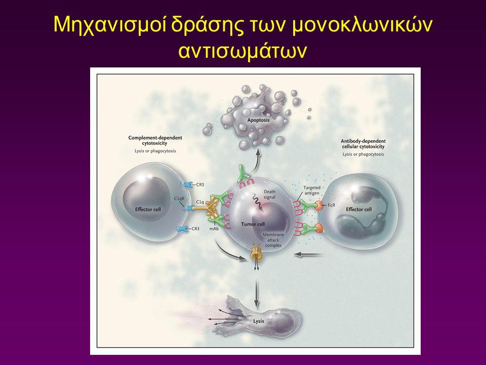 Μηχανισμοί δράσης των μονοκλωνικών αντισωμάτων
