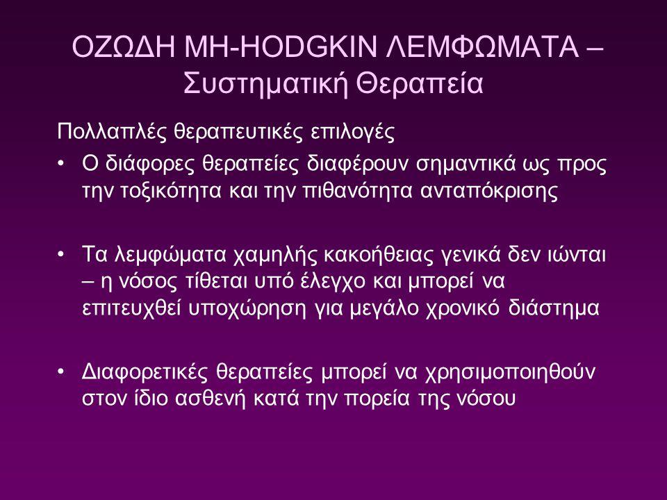 ΟΖΩΔΗ ΜΗ-HODGKIN ΛΕΜΦΩΜΑΤΑ – Συστηματική Θεραπεία