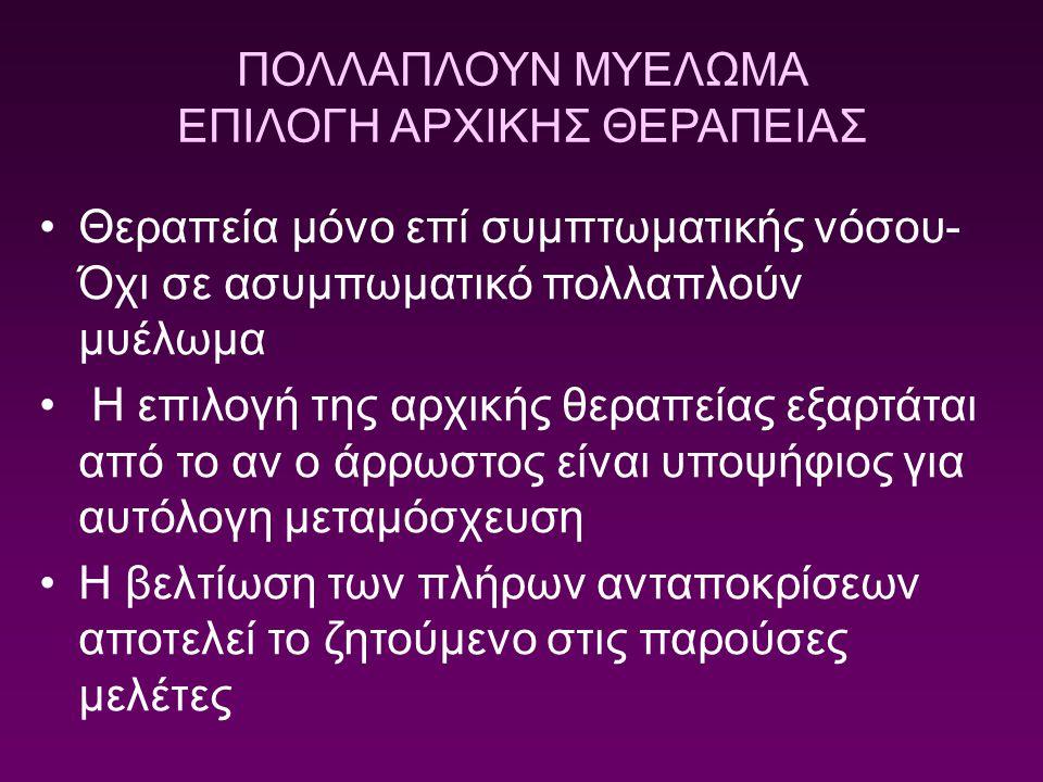 ΕΠΙΛΟΓΗ ΑΡΧΙΚΗΣ ΘΕΡΑΠΕΙΑΣ