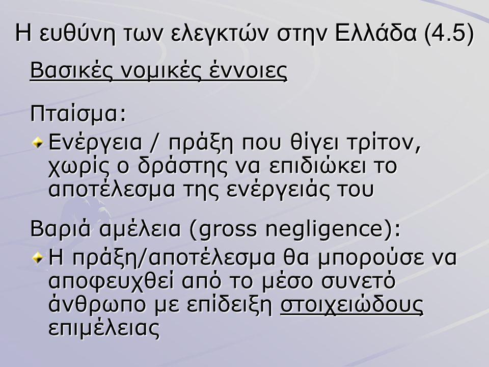 Η ευθύνη των ελεγκτών στην Ελλάδα (4.5)