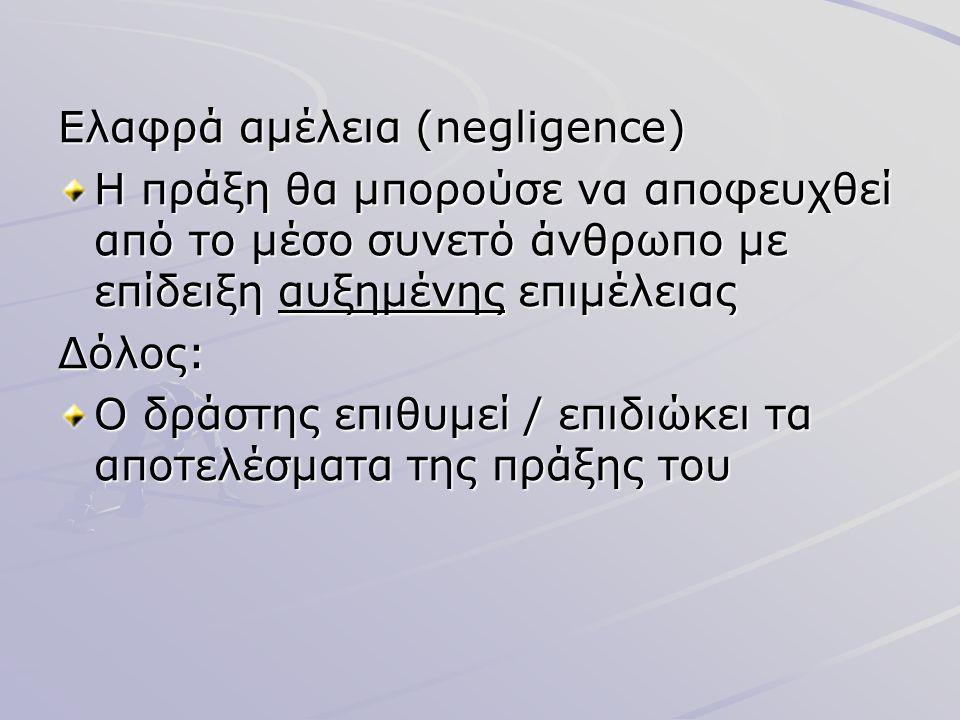 Ελαφρά αμέλεια (negligence)