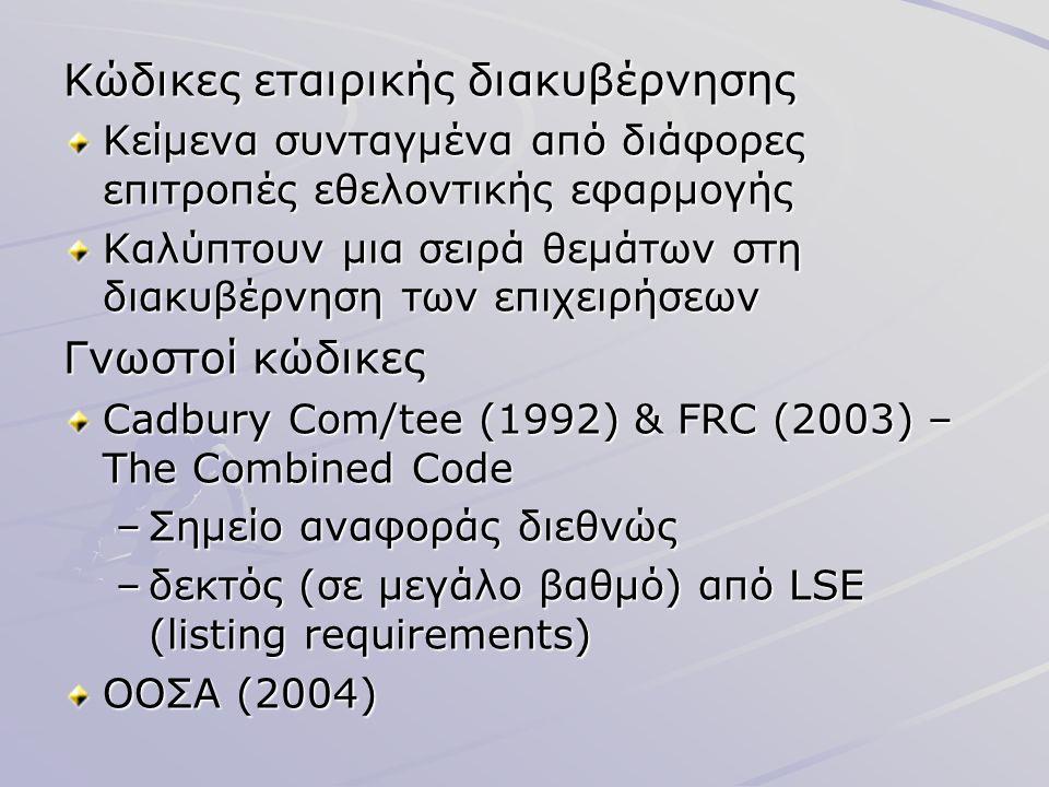 Κώδικες εταιρικής διακυβέρνησης
