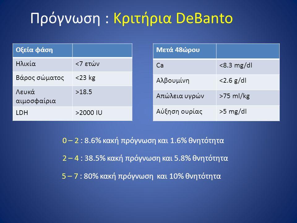 Πρόγνωση : Κριτήρια DeBanto