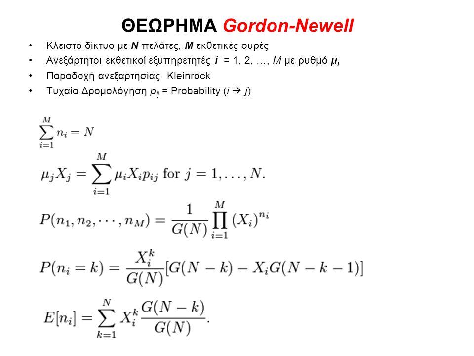 ΘΕΩΡΗΜΑ Gordon-Newell