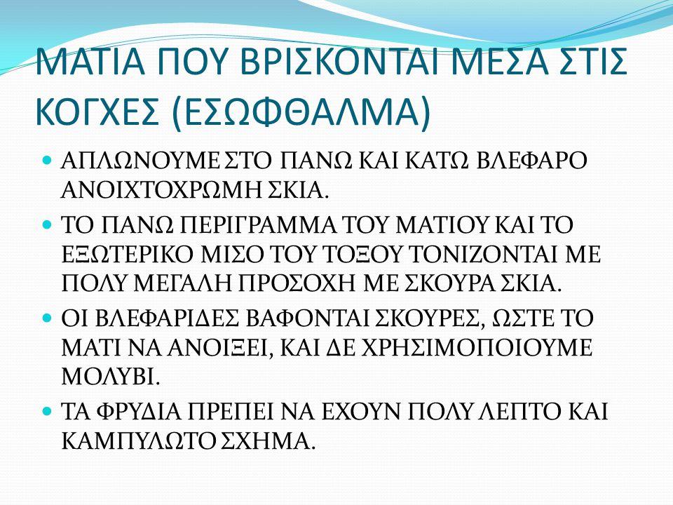 ΜΑΤΙΑ ΠΟΥ ΒΡΙΣΚΟΝΤΑΙ ΜΕΣΑ ΣΤΙΣ ΚΟΓΧΕΣ (ΕΣΩΦΘΑΛΜΑ)