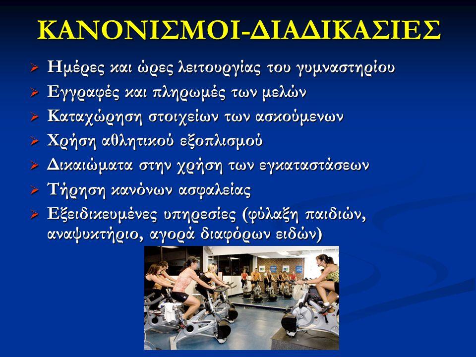 ΚΑΝΟΝΙΣΜΟΙ-ΔΙΑΔΙΚΑΣΙΕΣ