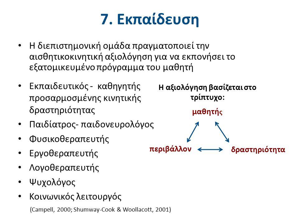 8. Αισθητικοκινητική ανάπτυξη στην εγκεφαλική παράλυση (1 από 3)