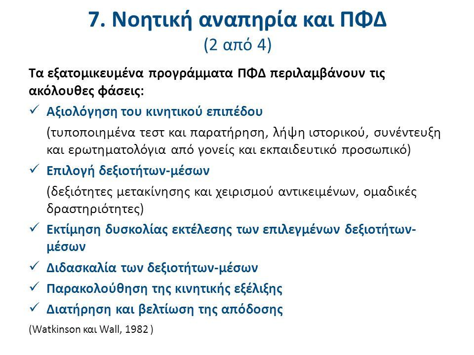 7. Νοητική αναπηρία και ΠΦΔ (3 από 4)