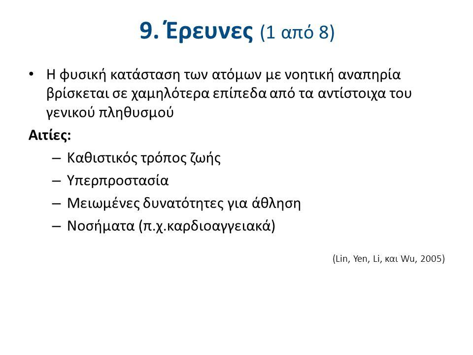 9. Έρευνες (2 από 8) Οι Faison-Hodge και Porretta (2004) εξέτασαν:
