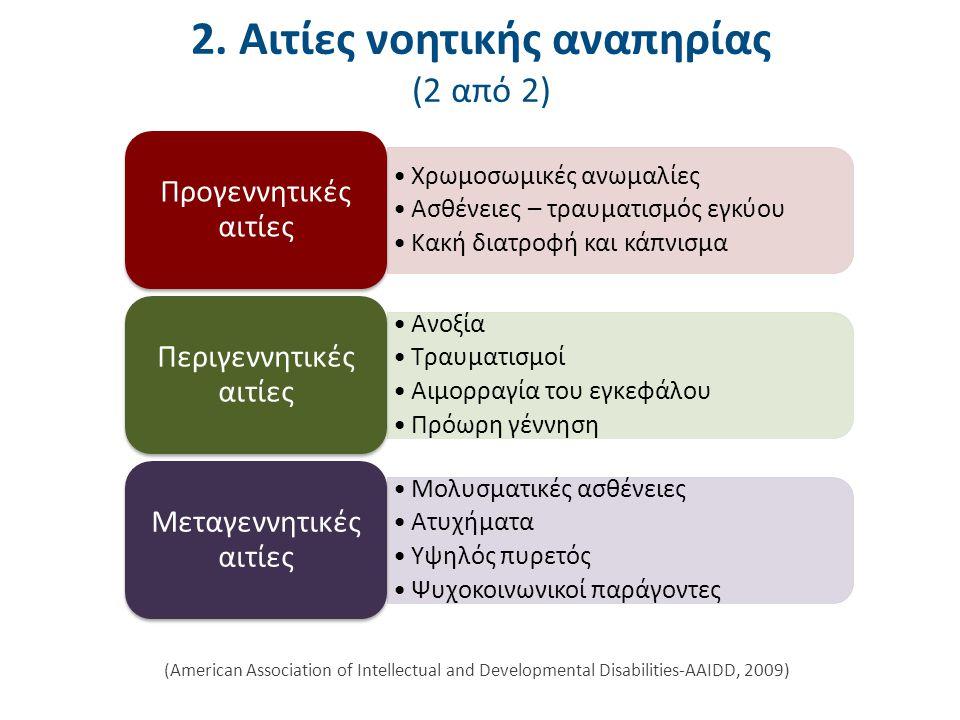3. Ταξινόμηση της νοητικής αναπηρίας (1 από 6)