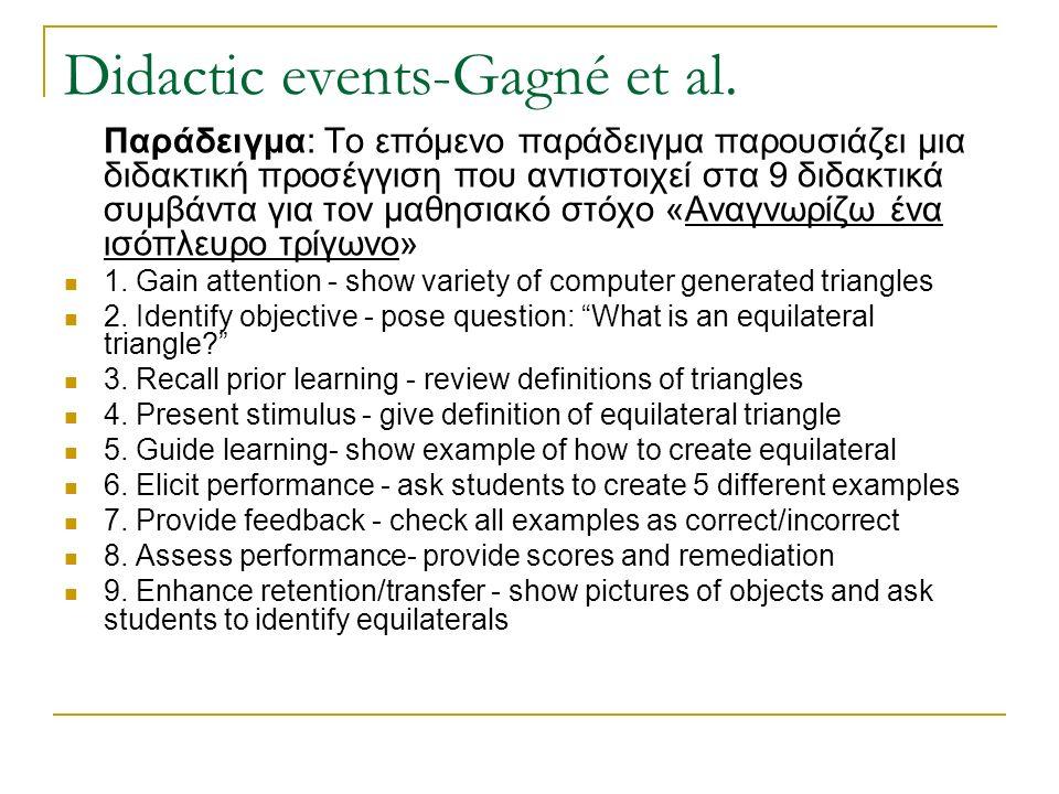 Didactic events-Gagné et al.