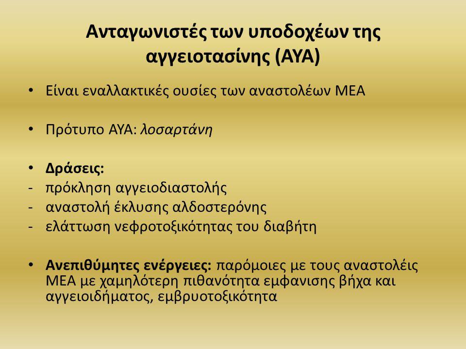 Ανταγωνιστές των υποδοχέων της αγγειοτασίνης (ΑΥΑ)