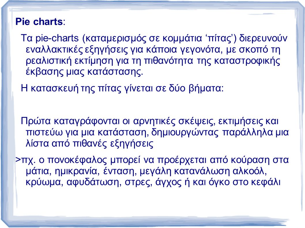 Pie charts: