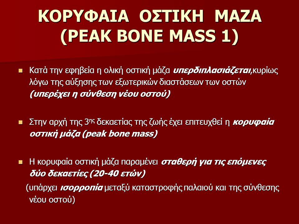 ΚΟΡΥΦΑΙΑ ΟΣΤΙΚΗ ΜΑΖΑ (PEAK BONE MASS 1)