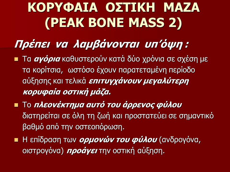 ΚΟΡΥΦΑΙΑ ΟΣΤΙΚΗ ΜΑΖΑ (PEAK BONE MASS 2)