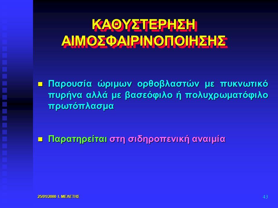 ΚΑΘΥΣΤΕΡΗΣΗ ΑΙΜΟΣΦΑΙΡΙΝΟΠΟΙΗΣΗΣ