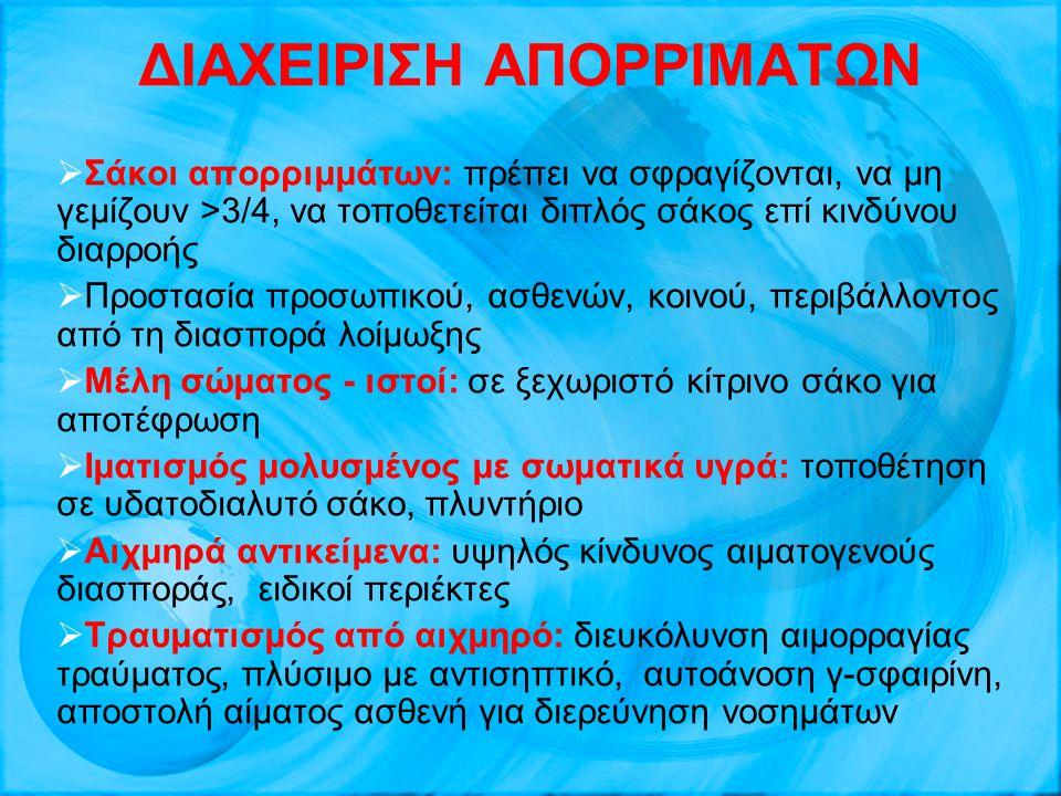 ΔΙΑΧΕΙΡΙΣΗ ΑΠΟΡΡΙΜΑΤΩΝ