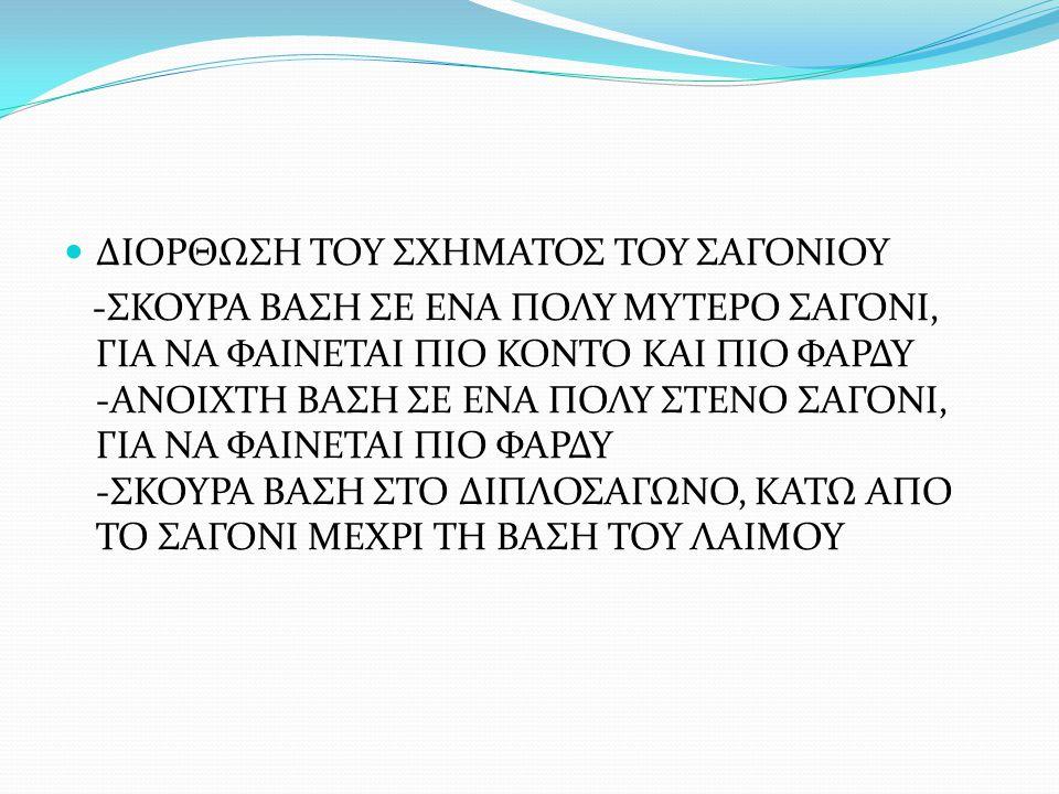 ΔΙΟΡΘΩΣΗ ΤΟΥ ΣΧΗΜΑΤΟΣ ΤΟΥ ΣΑΓΟΝΙΟΥ