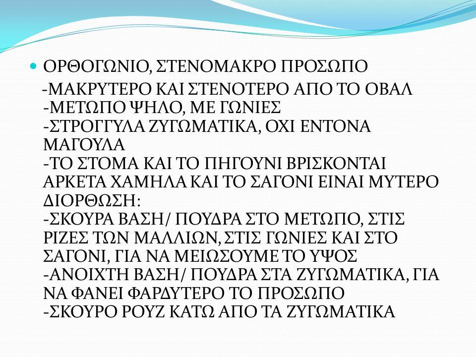 ΟΡΘΟΓΩΝΙΟ, ΣΤΕΝΟΜΑΚΡΟ ΠΡΟΣΩΠΟ