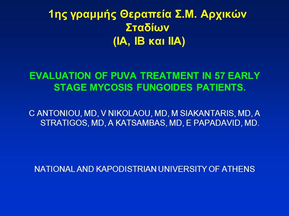 1ης γραμμής Θεραπεία Σ.Μ. Αρχικών Σταδίων (ΙΑ, ΙΒ και ΙΙΑ)
