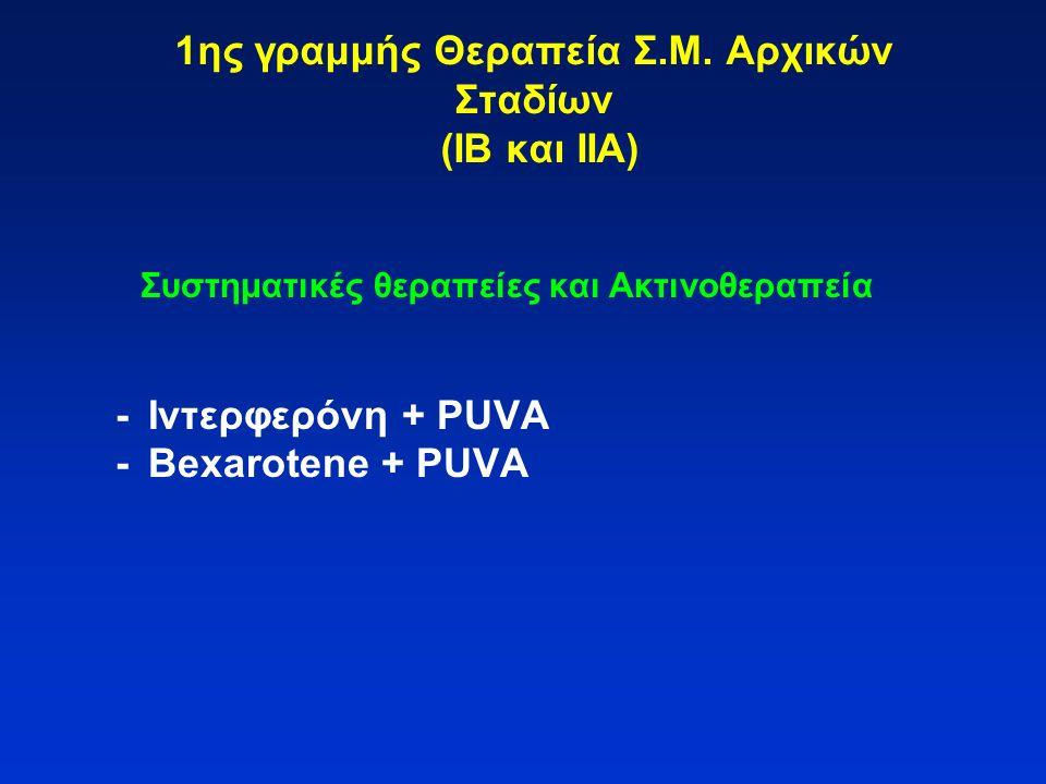 1ης γραμμής Θεραπεία Σ.Μ. Αρχικών Σταδίων (ΙΒ και ΙΙΑ)
