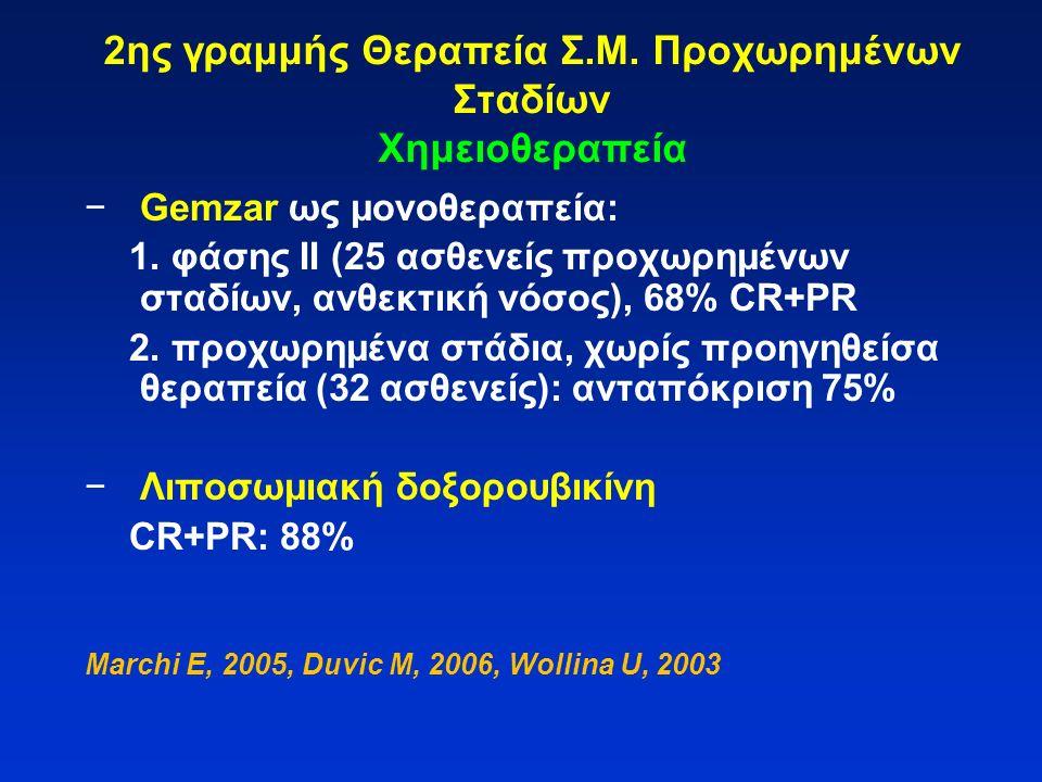 2ης γραμμής Θεραπεία Σ.Μ. Προχωρημένων Σταδίων Χημειοθεραπεία