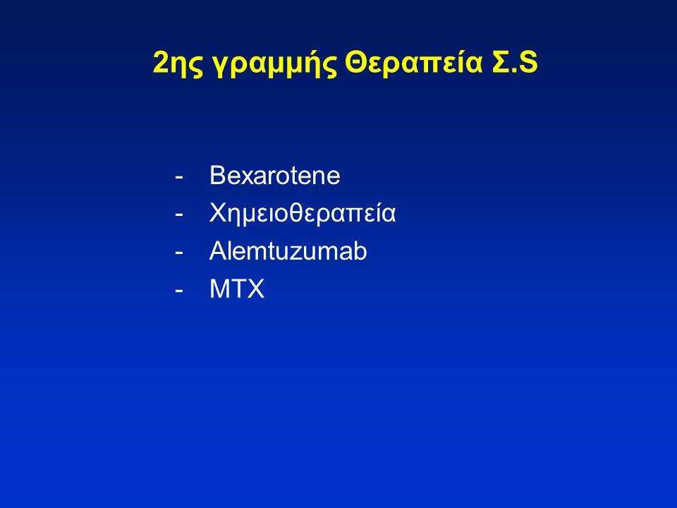 2ης γραμμής Θεραπεία Σ.S - Bexarotene - Χημειοθεραπεία - Alemtuzumab