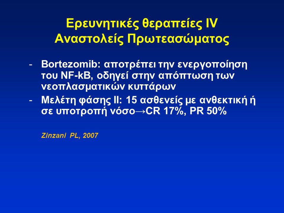 Ερευνητικές θεραπείες IV Αναστολείς Πρωτεασώματος
