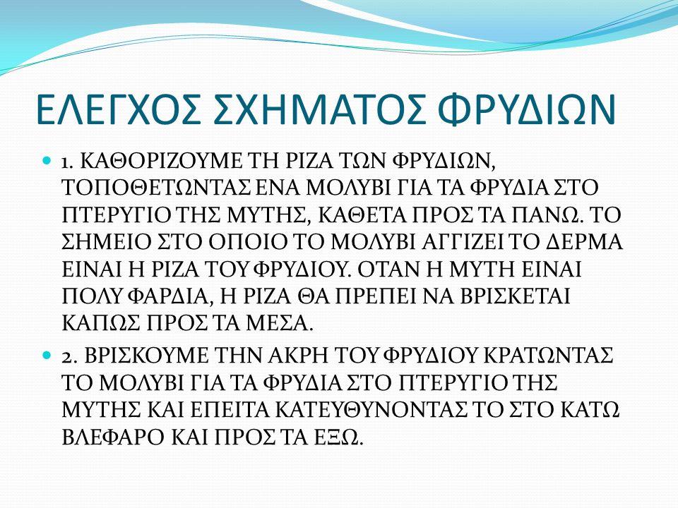 ΕΛΕΓΧΟΣ ΣΧΗΜΑΤΟΣ ΦΡΥΔΙΩΝ