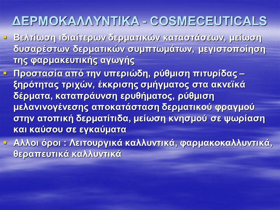 ΔΕΡΜΟΚΑΛΛΥΝΤΙΚΑ - COSMECEUTICALS