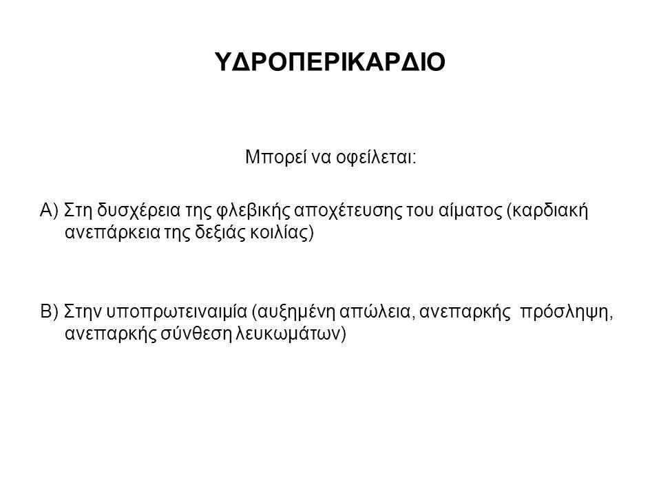 ΥΔΡΟΠΕΡΙΚΑΡΔΙΟ Μπορεί να οφείλεται: