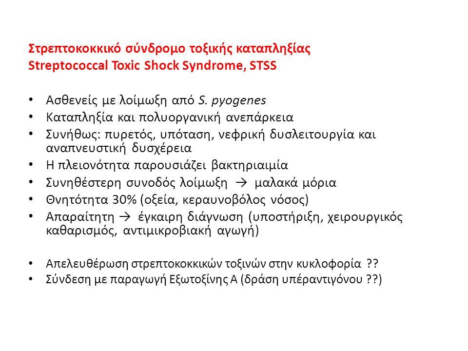Στρεπτοκοκκικό σύνδρομο τοξικής καταπληξίας