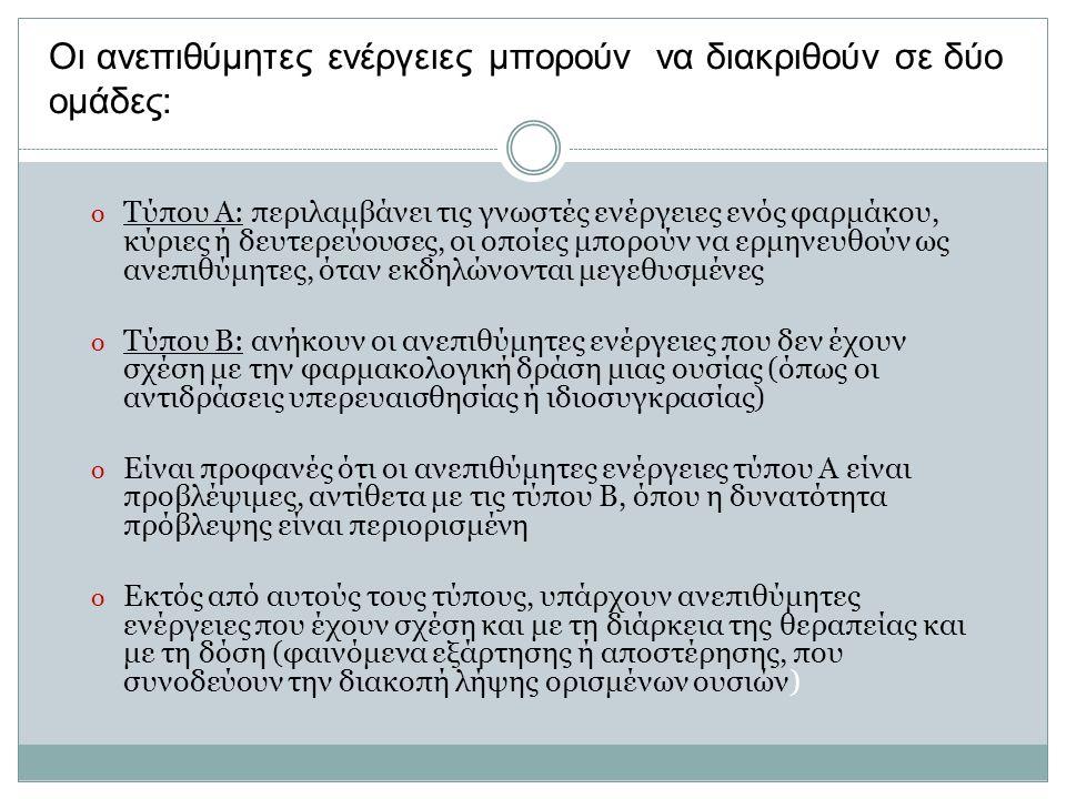Οι ανεπιθύμητες ενέργειες μπορούν να διακριθούν σε δύο ομάδες: