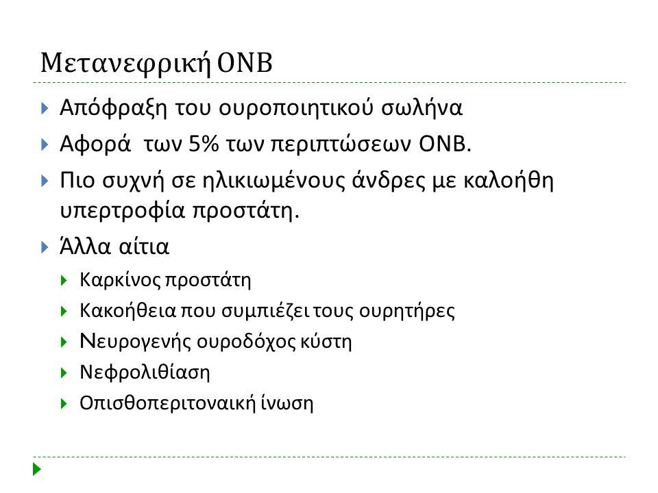Μετανεφρική ΟΝΒ Απόφραξη του ουροποιητικού σωλήνα