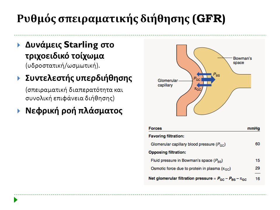 Ρυθμός σπειραματικής διήθησης (GFR)