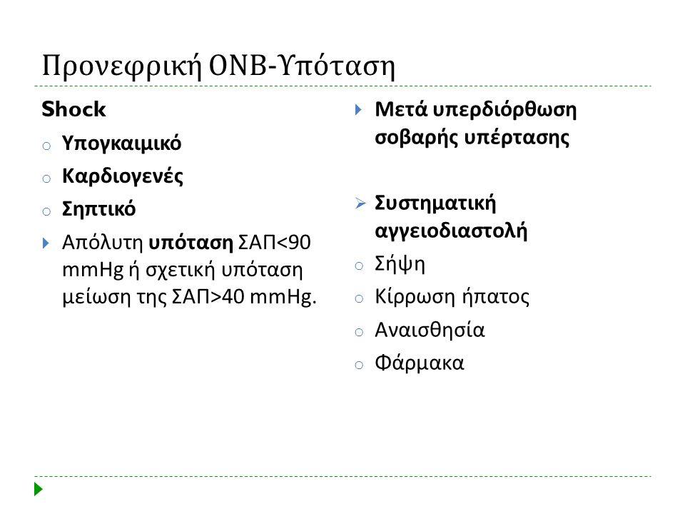 Προνεφρική ΟΝΒ-Υπόταση