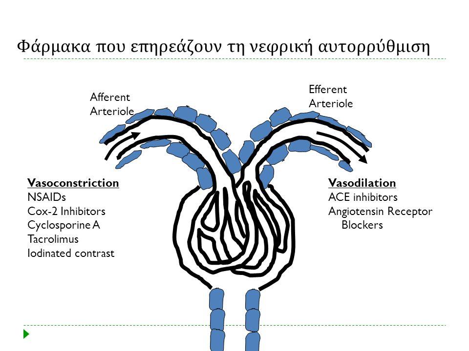 Φάρμακα που επηρεάζουν τη νεφρική αυτορρύθμιση