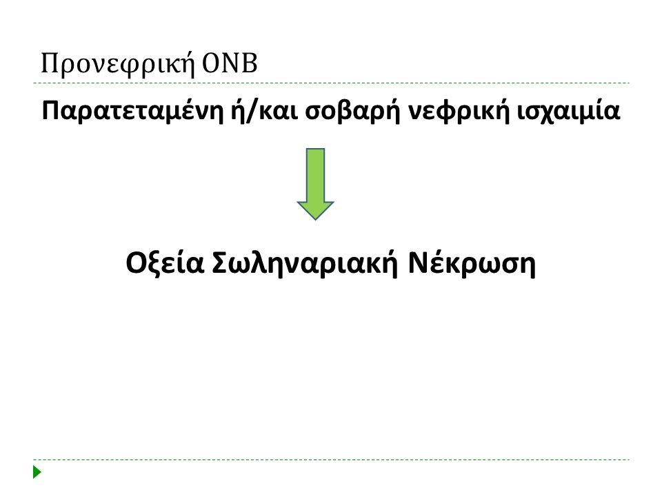 Παρατεταμένη ή/και σοβαρή νεφρική ισχαιμία Οξεία Σωληναριακή Νέκρωση