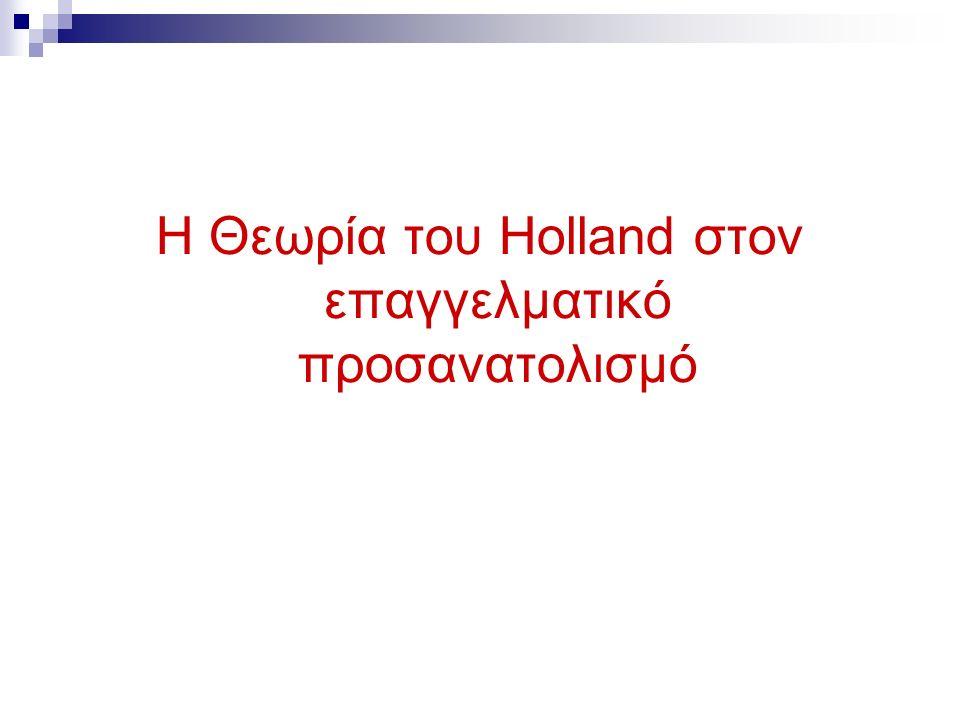Η Θεωρία του Holland στον επαγγελματικό προσανατολισμό