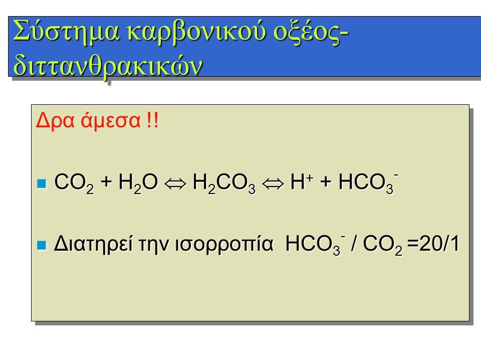 Σύστημα καρβονικού οξέος-διττανθρακικών